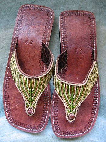 Beaded Sandals - Ukumbini.com :  african fashion thong beaded leather