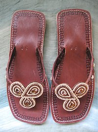 African Beaded Sandals Brown Saphire Stones - Ukumbini.com :  african fashion beaded sandals sandals shoes