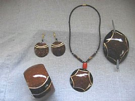 Coconut Jewelry: Coconut Set